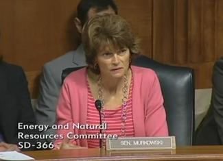 Sen. Murkowski questions Forest Service Chief Tom Tidwell at the 7/15/14 ENR hearing.
