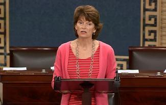 Sen. Murkowski speaks on the Senate floor about FERC nominees Norman Bay and Cheryl LaFleur.