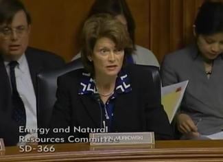 Sen. Murkowski speaks at the May 20, 2014 ENR Hearing to consider FERC nominees Bay and LaFleur.