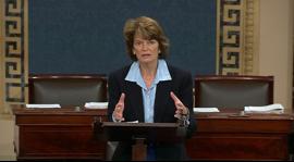 Sen. Murkowski addresses the Keystone bill ahead of the vote on the Senate floor.