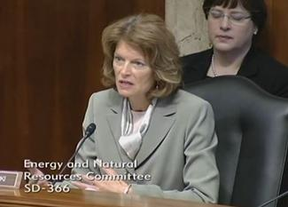 Sen. Murkowski addresses Chief Tidwell at the Feb. 6, 2014 ENR committee hearing.