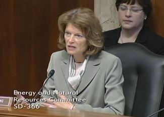 Sen. Murkowski addresses Chief Tidwell at the Feb. 6, 2014 ENR committee hearing.