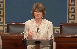 Sen. Murkowski speaks on the Senate floor about the EPA's proposed climate rule.